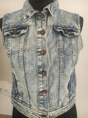 Denimweste Jeansweste Weste moon washed Retro Look Insta Item Trend