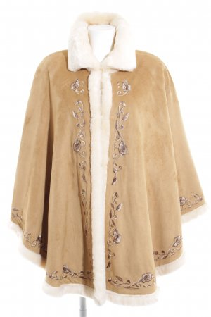 Dennis Basso Cape light brown-sand brown floral pattern casual look