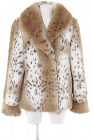 Dennis Basso Fake Fur Jacket animal pattern street-fashion look