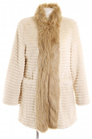 Dennis Basso Fake Fur Jacket cream-beige elegant