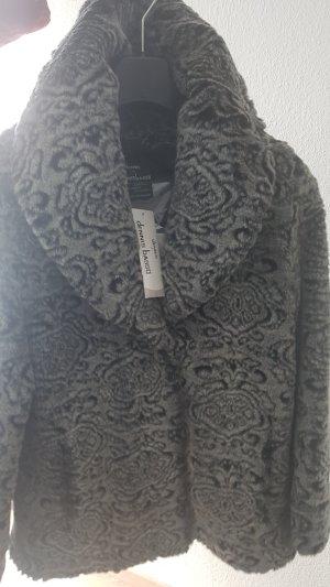 Dennis Basso Pelt Jacket black-grey