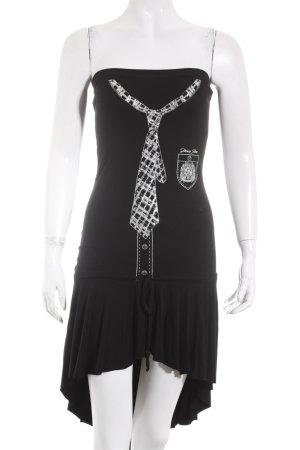 Denny Rose Robe bandeau noir style décontracté