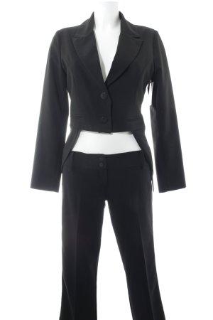 Denny Rose Traje de pantalón negro estilo «business»
