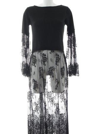 Denny Rose Langarmkleid schwarz Elegant