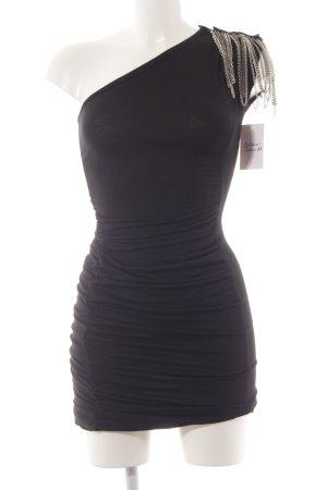 Denny Rose One-Shoulder-Kleid schwarz Party-Look