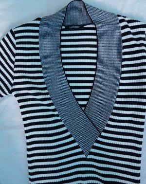 Denny Rose V-Ausschnitt-Pullover gestreift