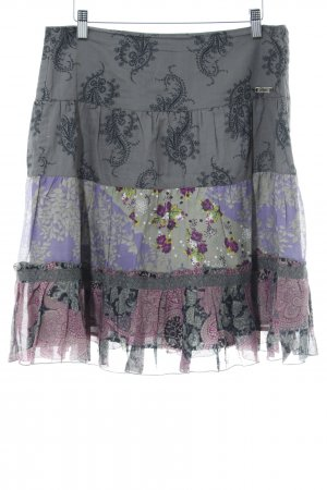 Dept Flared Skirt mixed pattern casual look