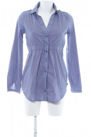 Dept Hemd-Bluse stahlblau-weiß Nadelstreifen schlichter Stil
