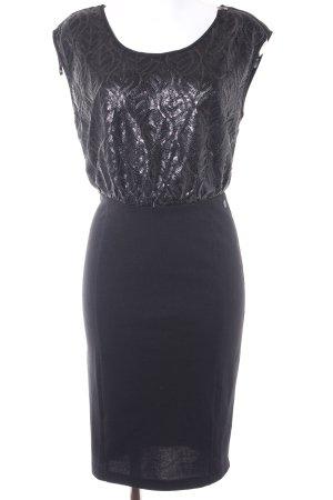 Dept Jerseykleid schwarz abstraktes Muster Elegant
