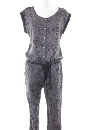 Dept Jumpsuit grau-schwarz abstraktes Muster Casual-Look