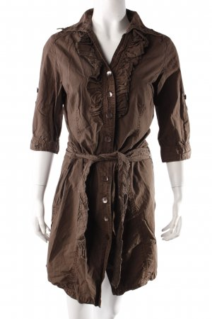Dept dress brown ruffles