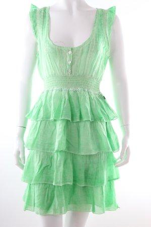 Dept Kleid grün mit Volants