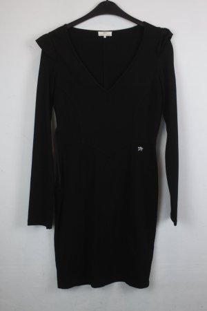 Dept Kleid Langarmkleid Gr. S schwarz mit V-Ausschnitt (18/5/300)