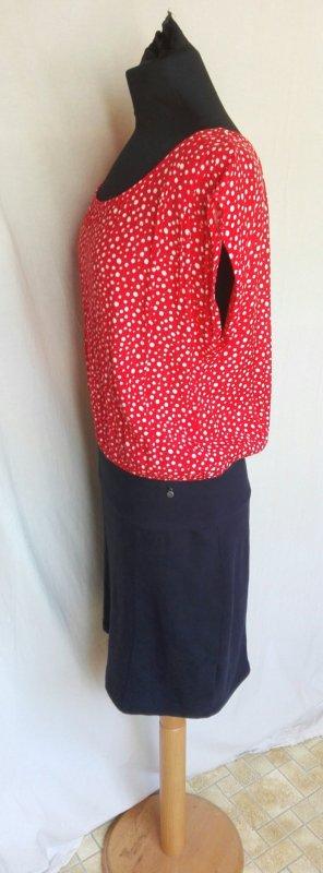 Dept Kleid Punkte rot weiß