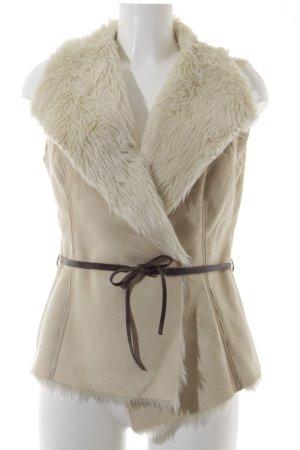 Dept Fake Fur Vest beige-cream casual look