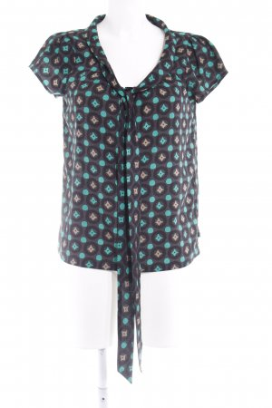 Dept Kurzarm-Bluse abstraktes Muster Business-Look