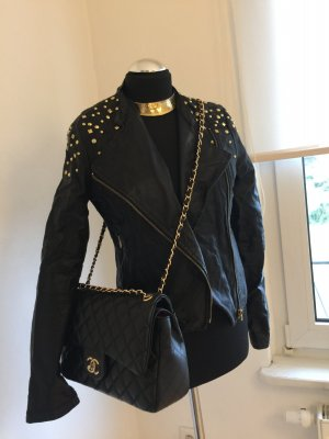 Dept Lederjacke Bikerjacke 38 new crushed optics studded Nieten