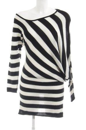 Dept Longpullover schwarz-weiß Streifenmuster Casual-Look
