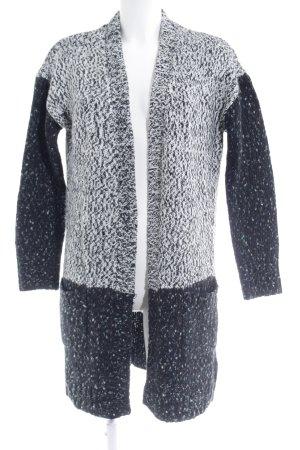 Dept Gilet long tricoté Motif de tissage style décontracté