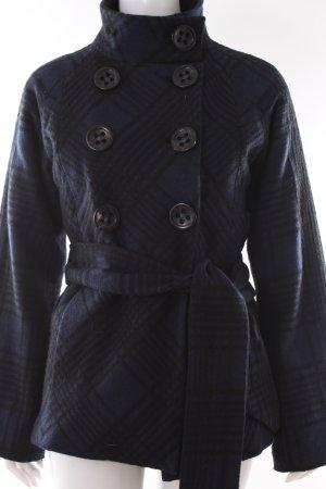 Dept Mantel blau-schwarz kariert