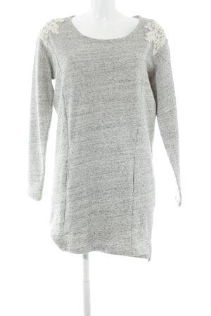 Dept Abito maglione grigio chiaro puntinato stile casual