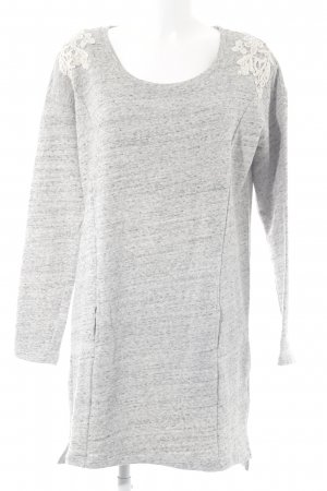 Dept Pulloverkleid hellgrau-wollweiß Casual-Look