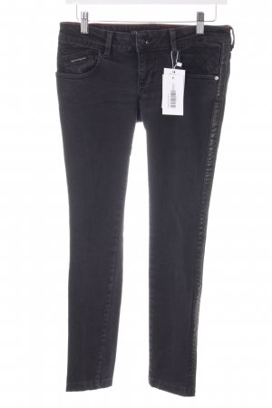 Dept Slim Jeans schwarz Street-Fashion-Look