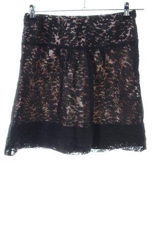 Dept Kanten rok zwart bloemenprint elegant