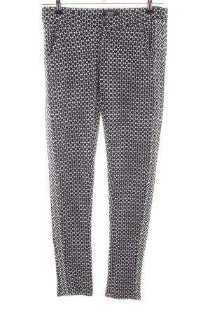 Dept Stoffhose schwarz-weiß grafisches Muster Casual-Look