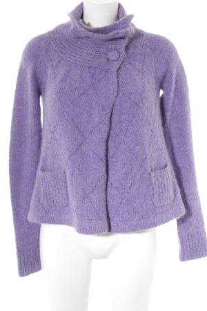 Dept Strickjacke flieder-violett Zopfmuster Casual-Look