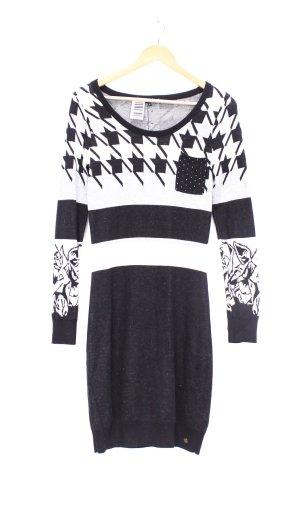 Dept Gebreide jurk zwart-wit