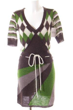 Dept Strickkleid grau-grün Street-Fashion-Look