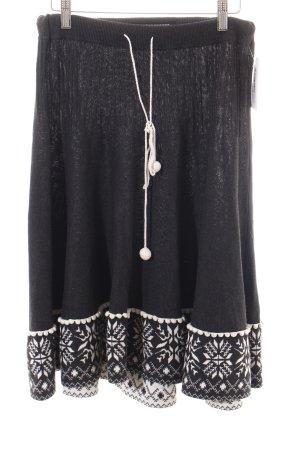 Dept Jupe tricotée gris foncé-blanc cassé style campagnard