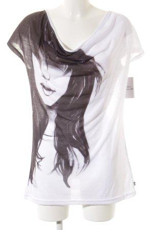 Dept T-Shirt weiß-schwarz Motivdruck Casual-Look