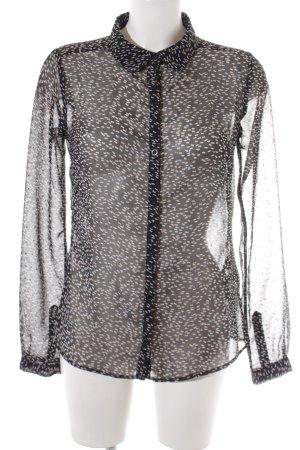 Dept Transparenz-Bluse abstrakter Druck Elegant