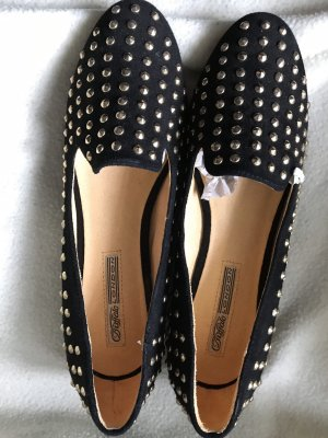 Buffalo Slippers black leather