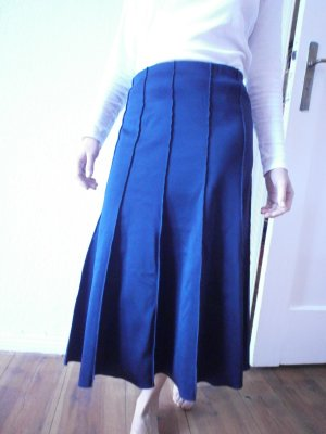 COS Flared Skirt dark blue polyamide