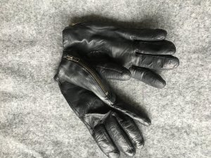 COS Gloves black leather