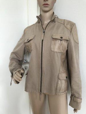DER HERBST IST DA!!! * Superschöne Jacke aus Echt-Leder und Baumwolle *