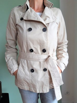 s.Oliver Trenchcoat beige clair coton
