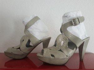 Alba Moda Sandaletto con tacco alto grigio chiaro Pelle