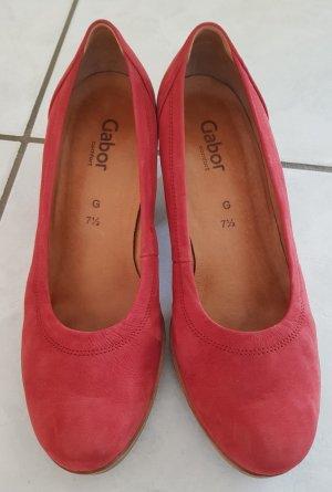 Gabor Comfort Tacones con plataforma rojo