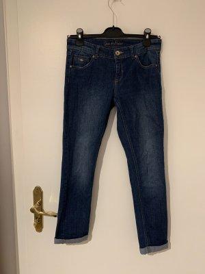 grain de malice Jeans 7/8 bleu foncé