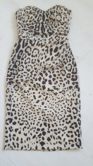 Dolce & Gabbana Vestido bustier negro-blanco puro