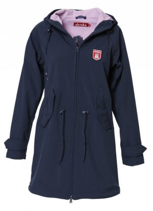 Derbe Island Friese Softshell navy/lavendel mantel wie neu 36