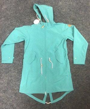 Derbe Manteau de pluie turquoise-gris