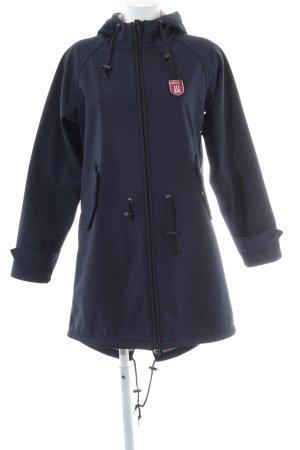 Derbe Manteau à capuche bleu foncé style décontracté