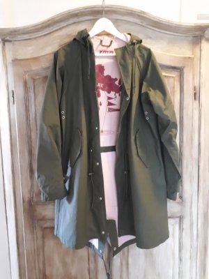 Derbe Chubasquero pesado rosa-verde oliva