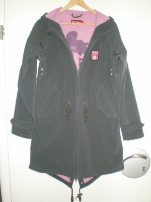 Derbe Raincoat anthracite-pink polyester