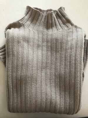 Derek Lam Strickpullover Ripp-Sweater Greige XS Kaschmir Wollpulli